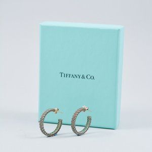 TIFFANY & CO. SILVER SOMERSET HOOP EARRINGS